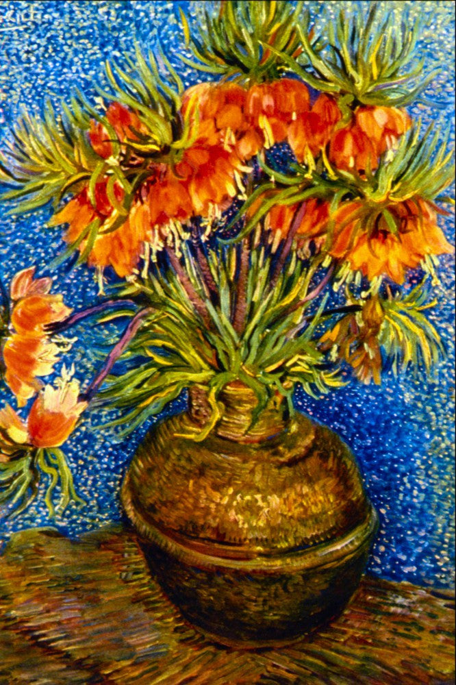 100% Hand Painted Oil on Canvas - Fritillaries by Van Gogh