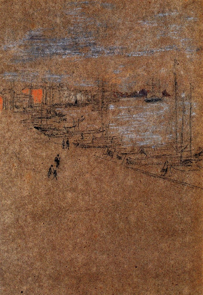 100% Hand Painted Oil on Canvas - From the Cafe Orientale by Whistler