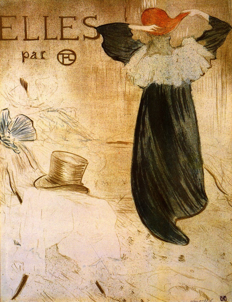100% Hand Painted Oil on Canvas - Frontispiece by Toulouse-Lautrec