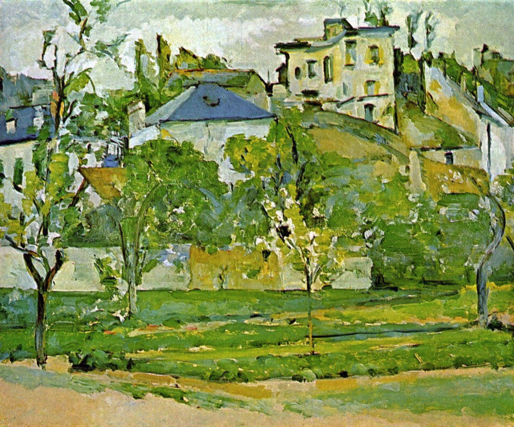 100% Hand Painted Oil on Canvas - Fruit garden in Pontoise by Cezanne