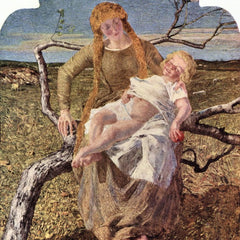 100% Hand Painted Oil on Canvas - Fruit of Love by Giovanni Segantini