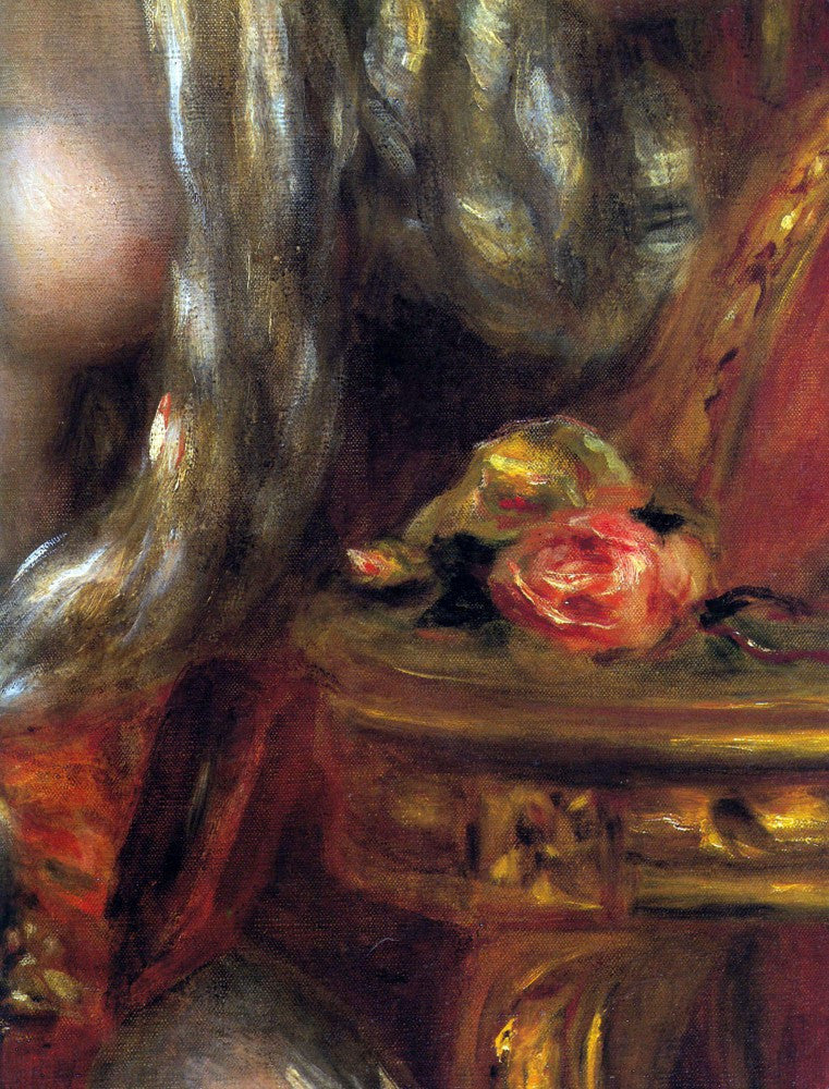 100% Hand Painted Oil on Canvas - Gabrielle with jewels, detail by Renoir