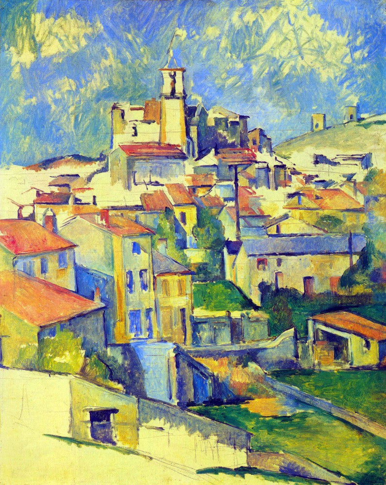 100% Hand Painted Oil on Canvas - Gardanne by Cezanne