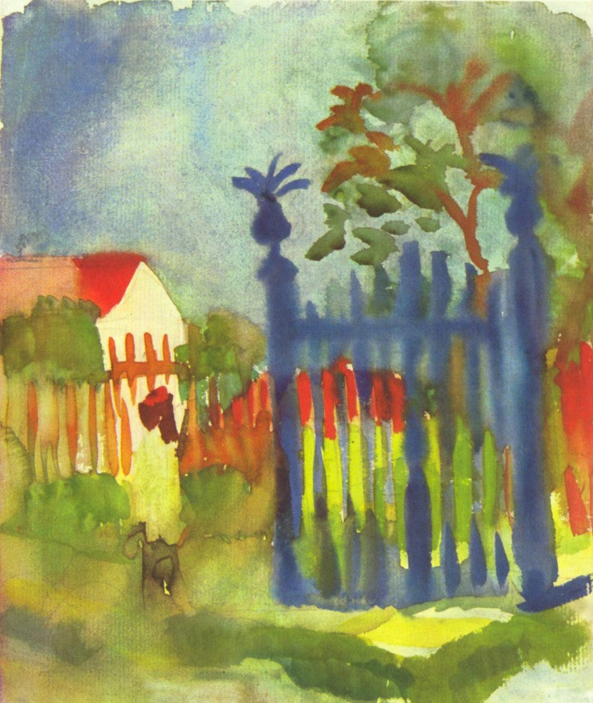 100% Hand Painted Oil on Canvas - Garden gate by Macke