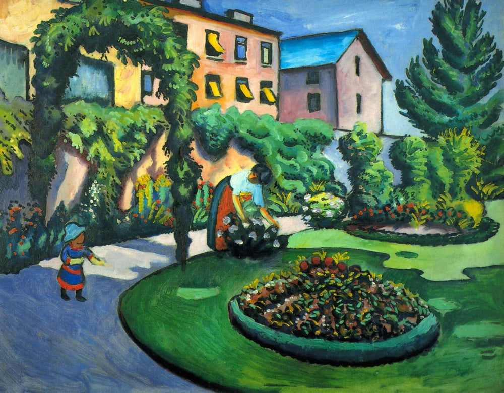 100% Hand Painted Oil on Canvas - Garden image by Macke