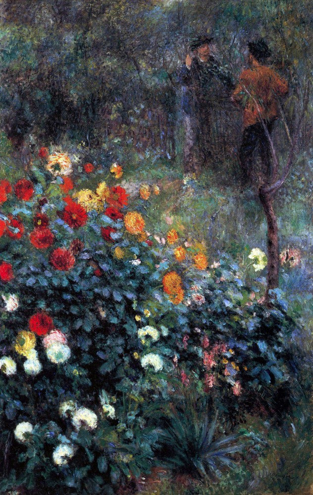 The Museum Outlet - Garden in the street Cortot, Montmartre by Renoir