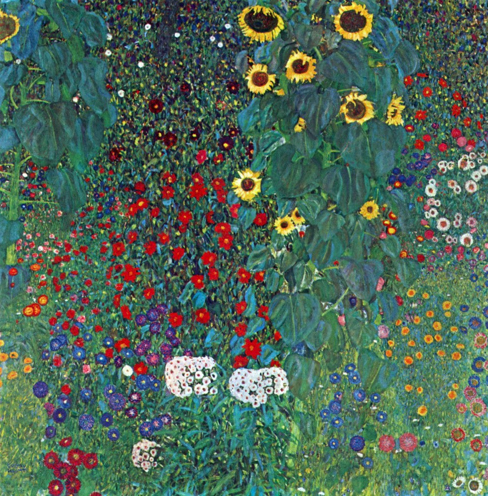100% Hand Painted Oil on Canvas - Garden with Crucifix 2 by Klimt