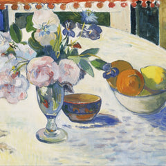 The Museum Outlet - Gauguin - Flowers and a Bowl of Fruit on a Table