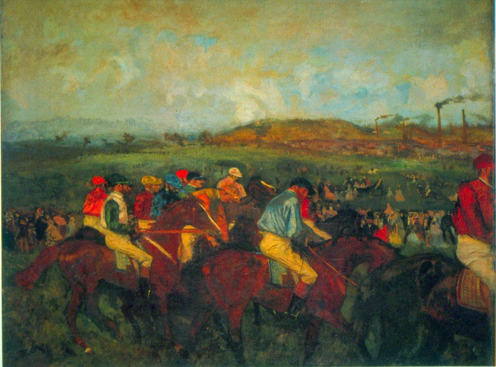 100% Hand Painted Oil on Canvas - Gentlemen's Race by Degas