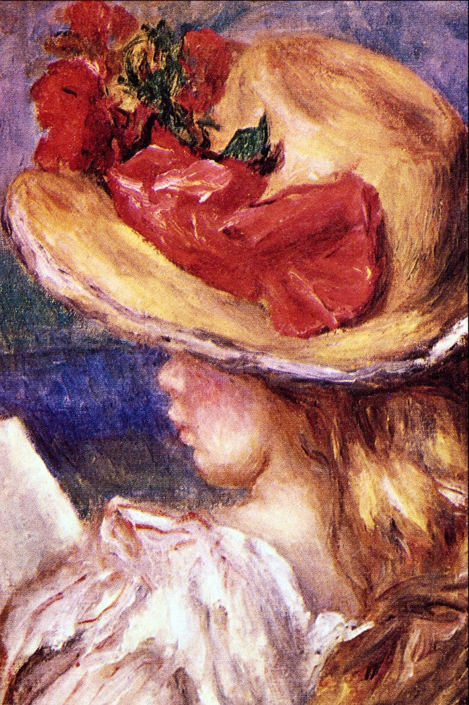 100% Hand Painted Oil on Canvas - Girl Reading2 by Renoir