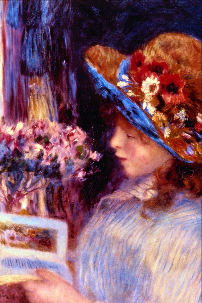 100% Hand Painted Oil on Canvas - Girl Reading by Renoir