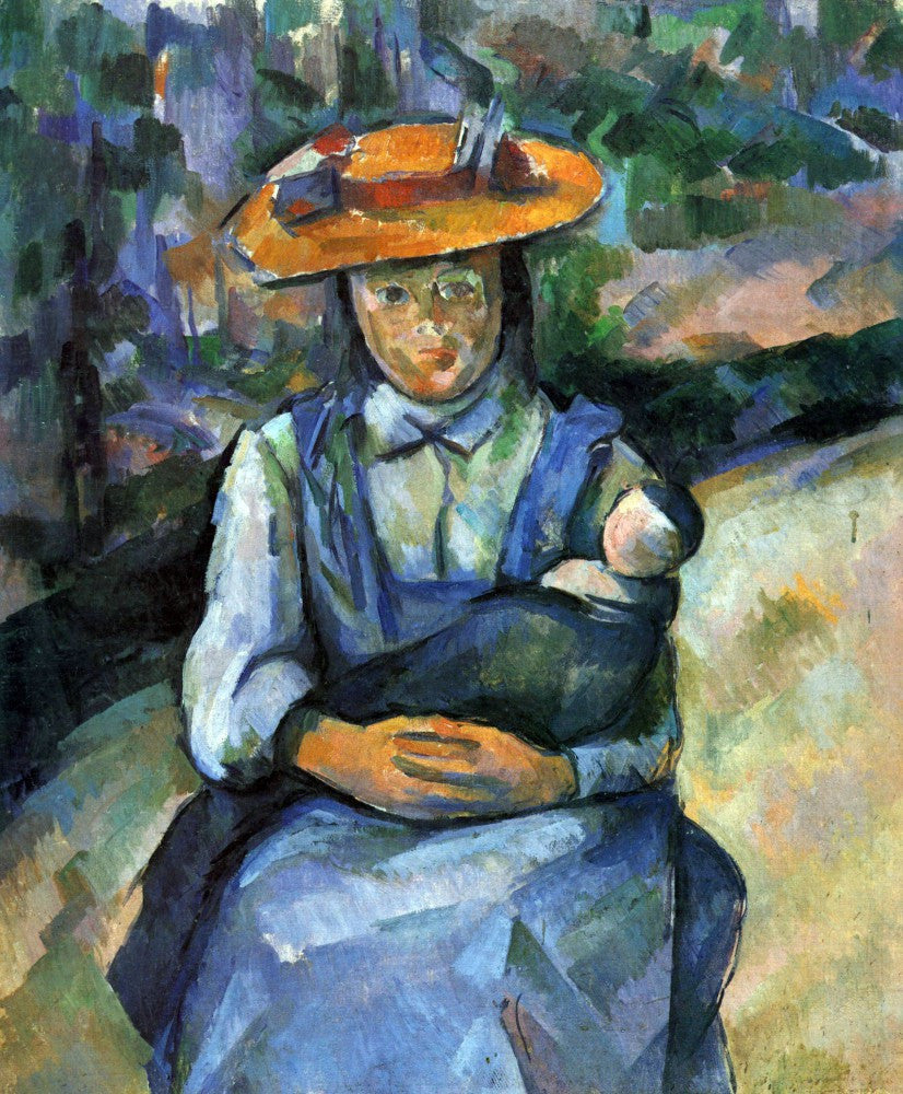 100% Hand Painted Oil on Canvas - Girl with Doll by Cezanne