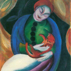 The Museum Outlet - Girl with a Cat II by Franz Marc