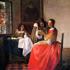 The Museum Outlet - Girl with a wine glass by Vermeer