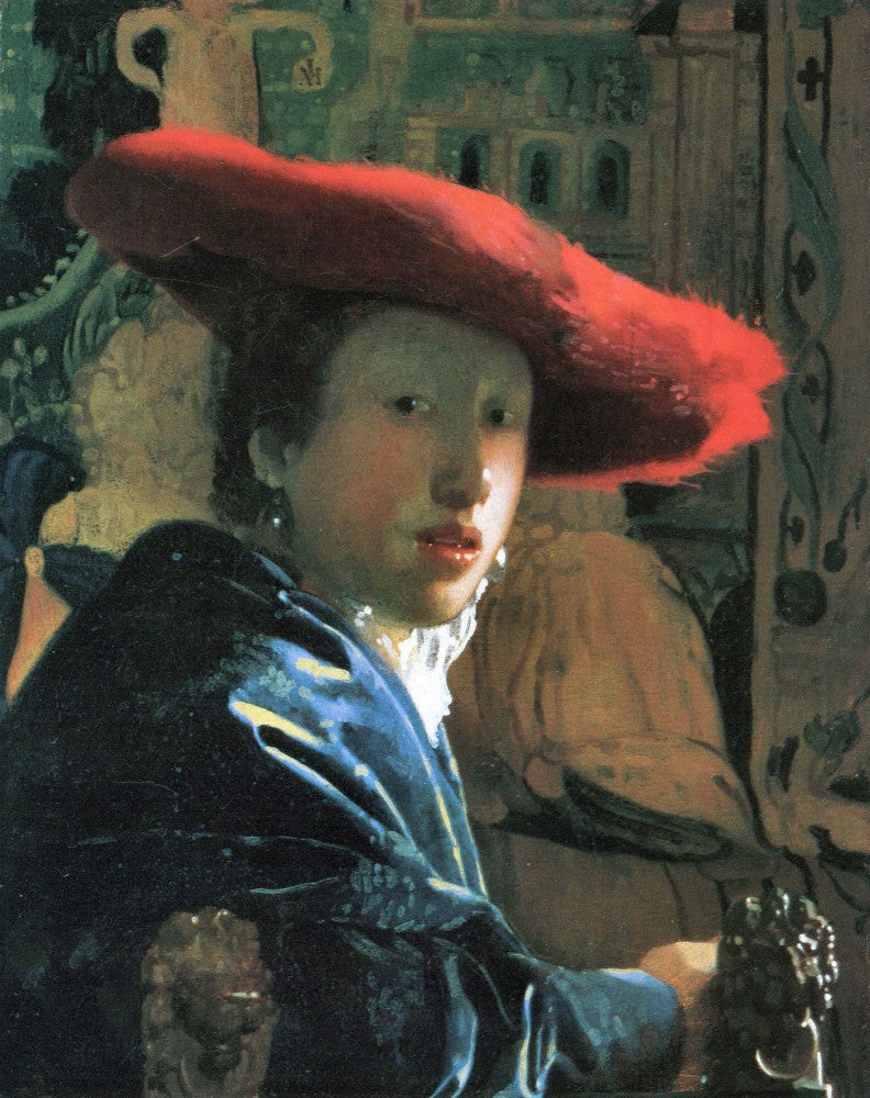 The Museum Outlet - Girl with red hat by Vermeer