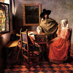 The Museum Outlet - Glass of wine by Vermeer