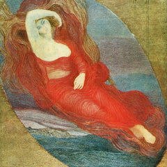 100% Hand Painted Oil on Canvas - Goddess of love by Giovanni Segantini
