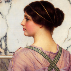 100% Hand Painted Oil on Canvas - Godward - A grecian lovely