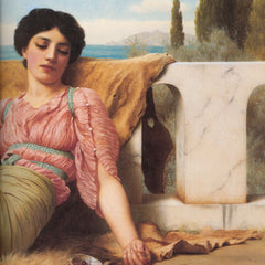 100% Hand Painted Oil on Canvas - Godward - A quiet pet
