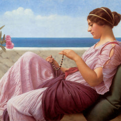 100% Hand Painted Oil on Canvas - Godward - A souveneer
