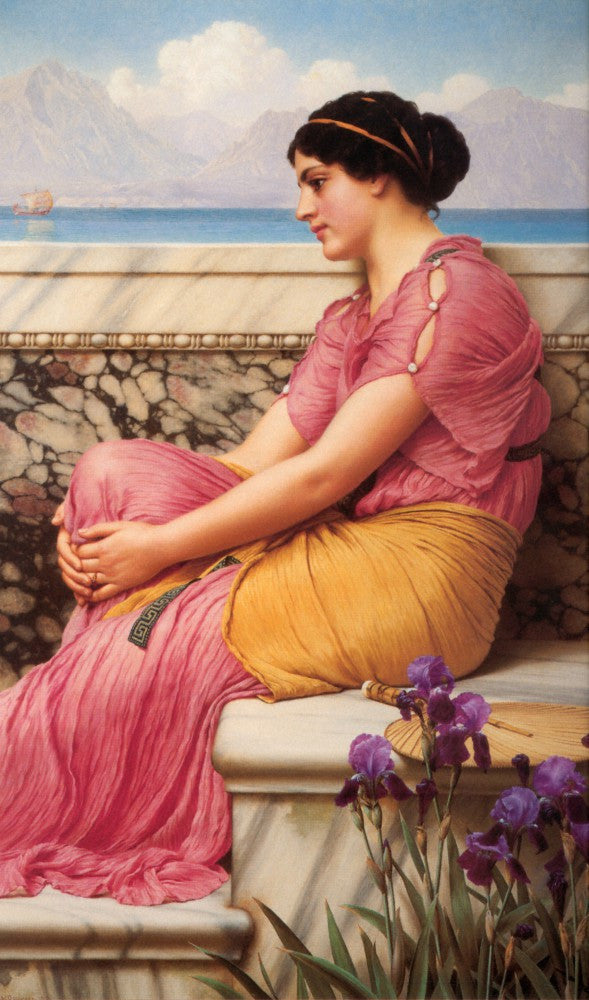 100% Hand Painted Oil on Canvas - Godward - Absence makes the heart grow fonder
