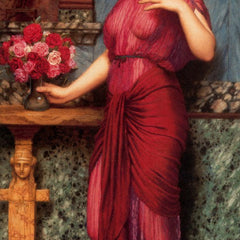 100% Hand Painted Oil on Canvas - Godward - An offering