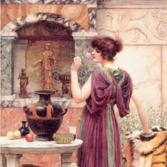 100% Hand Painted Oil on Canvas - Godward - At the Garden
