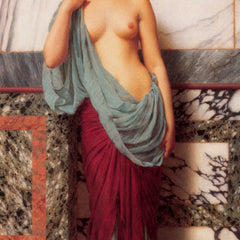 100% Hand Painted Oil on Canvas - Godward - At the Thermae