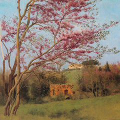 100% Hand Painted Oil on Canvas - Godward - Blossoming Red Almond
