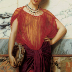 100% Hand Painted Oil on Canvas - Godward - Drusilla