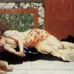 100% Hand Painted Oil on Canvas - Godward - Endymion
