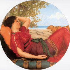 100% Hand Painted Oil on Canvas - Godward - In Realms of Fancy
