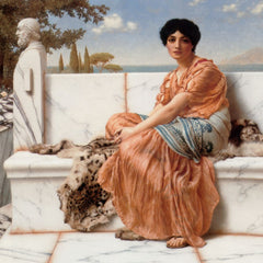 100% Hand Painted Oil on Canvas - Godward - In the Days of Sappho