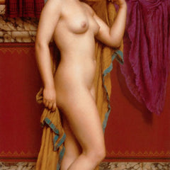 100% Hand Painted Oil on Canvas - Godward - In the Tepidarium