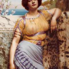 100% Hand Painted Oil on Canvas - Godward - Ionian dancing girl