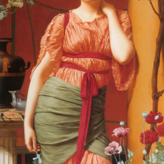 100% Hand Painted Oil on Canvas - Godward - Nerissa