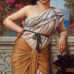 100% Hand Painted Oil on Canvas - Godward - Reverie