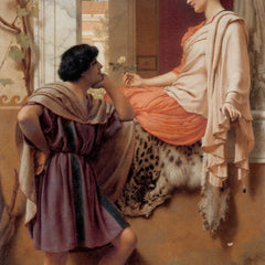 100% Hand Painted Oil on Canvas - Godward - The old, old story