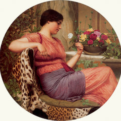 100% Hand Painted Oil on Canvas - Godward - The time of roses