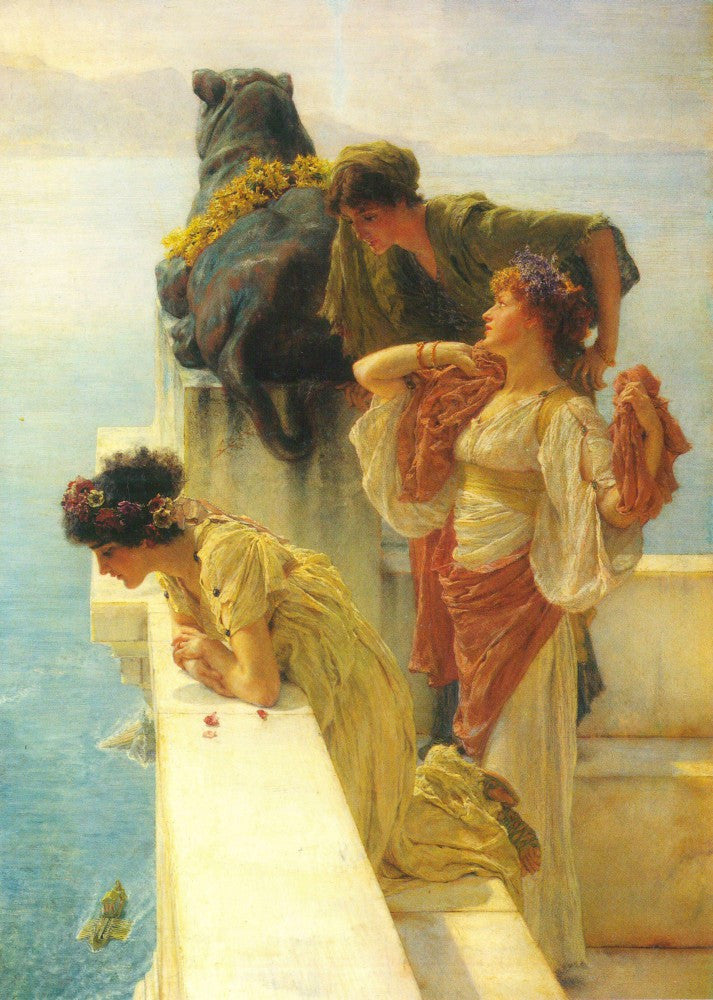100% Hand Painted Oil on Canvas - Good vantage point by Alma-Tadema