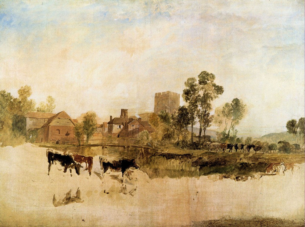 100% Hand Painted Oil on Canvas - Goring Mill and church by Joseph Mallord Turner