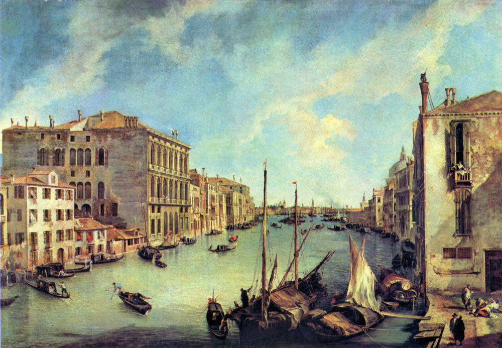 100% Hand Painted Oil on Canvas - Grand Canal at San Vio by Canaletto