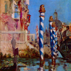 100% Hand Painted Oil on Canvas - Grand Canal in Venice by Edouard Manet