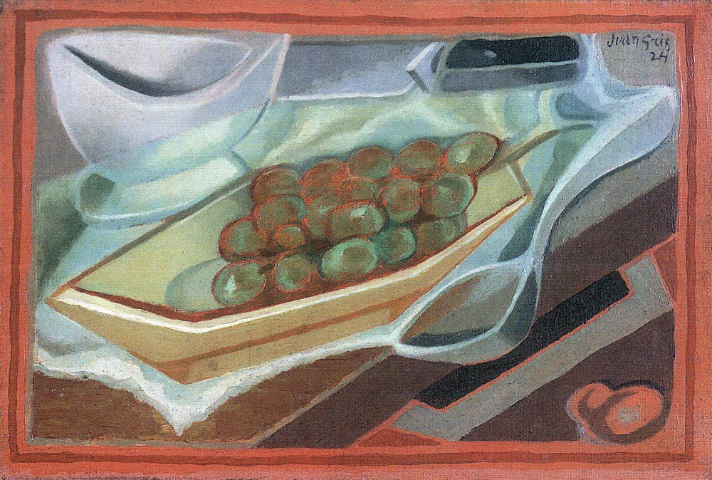 100% Hand Painted Oil on Canvas - Grapes by Juan Gris