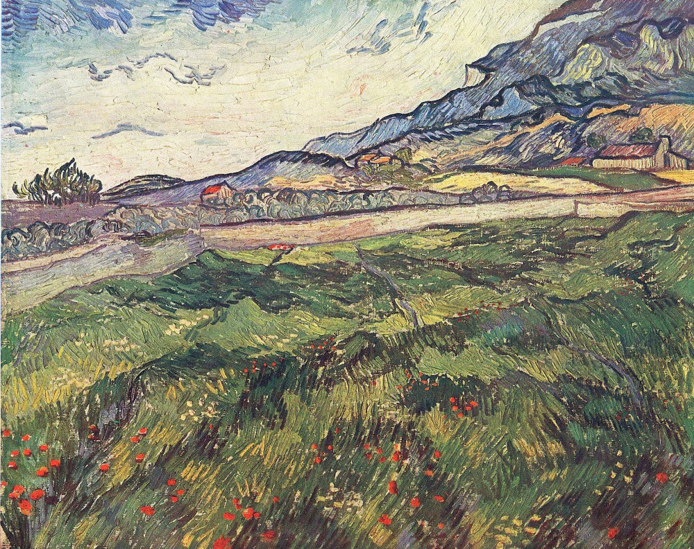 100% Hand Painted Oil on Canvas - Green wheat field by Van Gogh