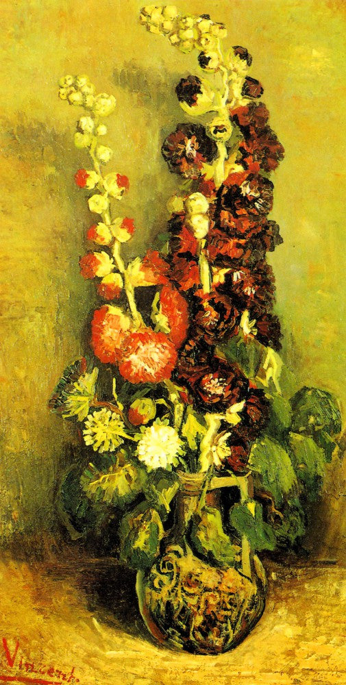 The Museum Outlet - Hollyhocks by Van Gogh
