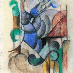 The Museum Outlet - House in abstract landscape by Franz Marc