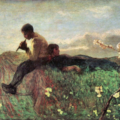 100% Hand Painted Oil on Canvas - Idyll by Giovanni Segantini