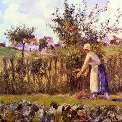 100% Hand Painted Oil on Canvas - In the Orchard by Pissarro