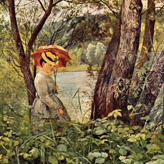 100% Hand Painted Oil on Canvas - In the sunshine by Hans Thoma